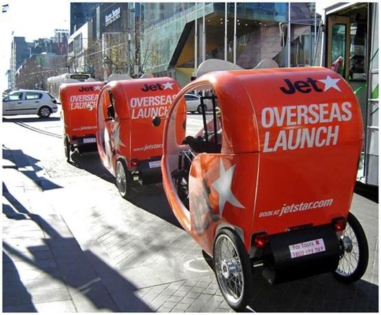 JetStar Overseas Launch, bike wraps