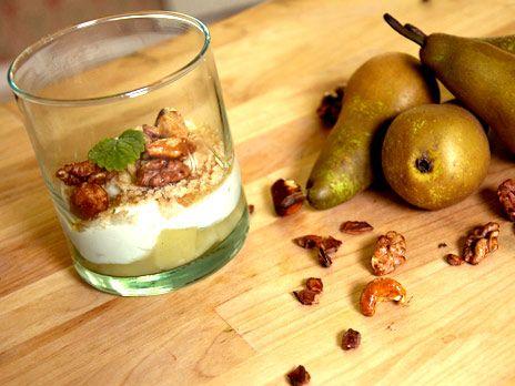 Getostcrème med inkokta päron | Recept.nu