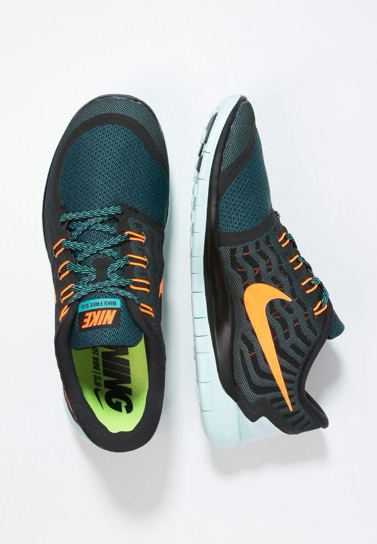Nike free 5.0 (Running) Black-Orange-Aqua-Mint