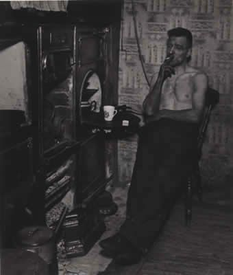 Bill Brandt, East Durham Coal Miner Just Home from the Pit, 1937
