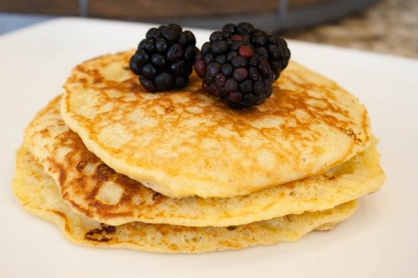 Oatmeal Cottage Cheese Corn pancakes. Healthy Breakfast theblushfig.com