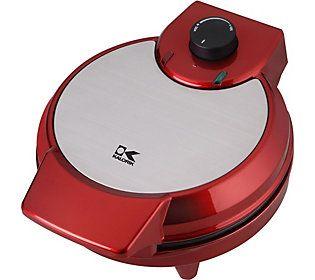 Kalorik Metallic Heart Shape Waffle Maker - Red