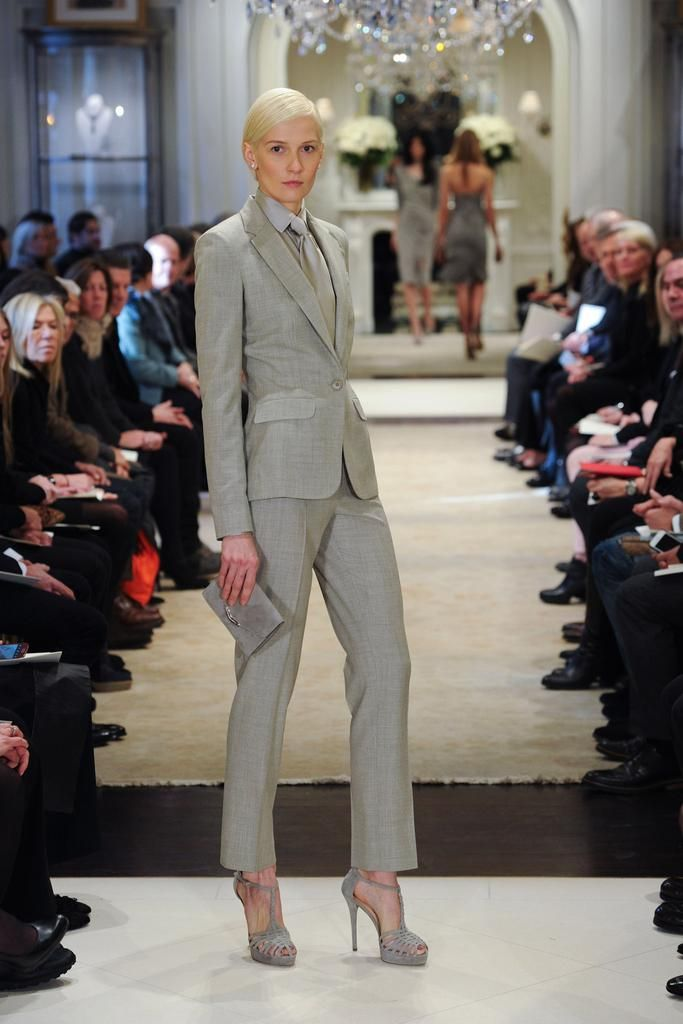 Ralph Lauren Pre-Fall 2014 - Collection - Gallery - Look 18 - Style.com (classic RL ladies menswear style)