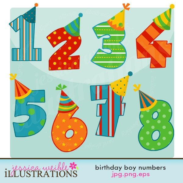 free clipart birthday numbers - photo #43