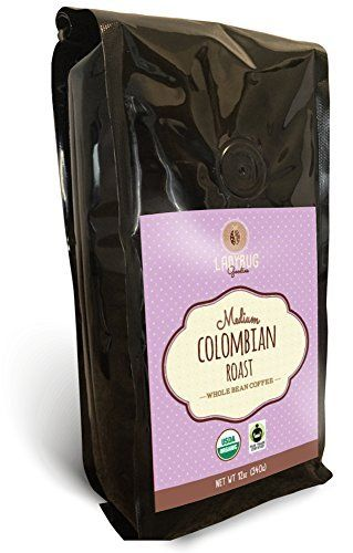 Ladybug Goodies Organic Coffee Beans Whole Bean Coffee Medium Roast Fair Trade Certified Gourmet Colombian 100 Arabica 12oz *** Check out this great product. Note: It's an affiliate link to Amazon.