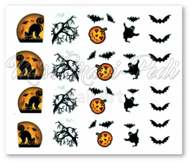 Halloween Nails Water Nail Decals Ghost Nail Stickers Full | Etsy