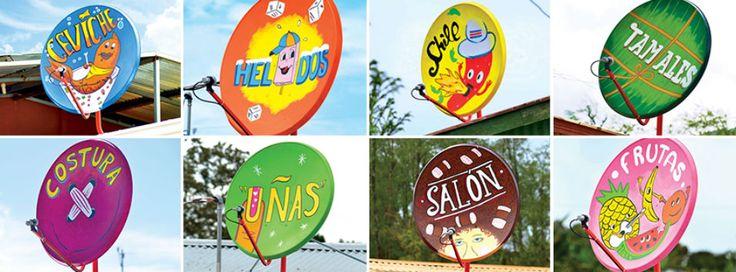 Usar Parabolicas como vallas publicitarias. Use Satelite Dishes like Hoarding Advertising