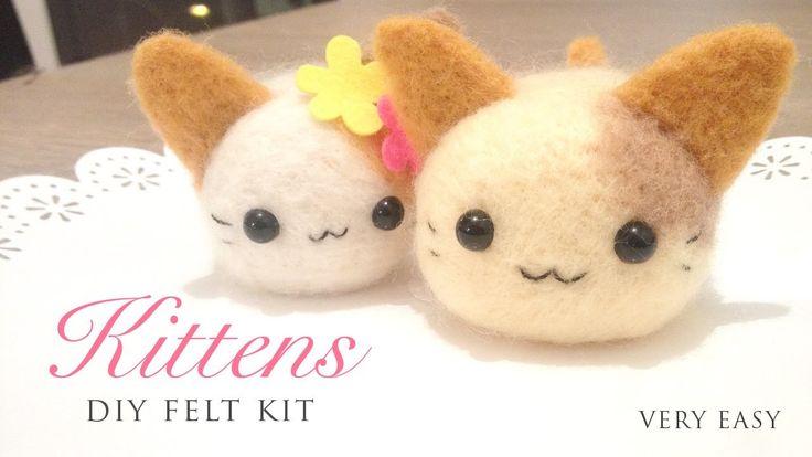 Make Adorable Kittens Using a DIY Needle Felt Kit (+playlist)