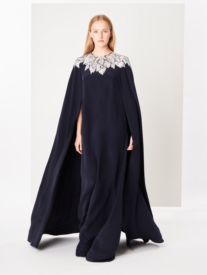 906ba7d5048cc Maple Leaf Embroidered Silk-Crepe Cape-Back Caftan in 2019