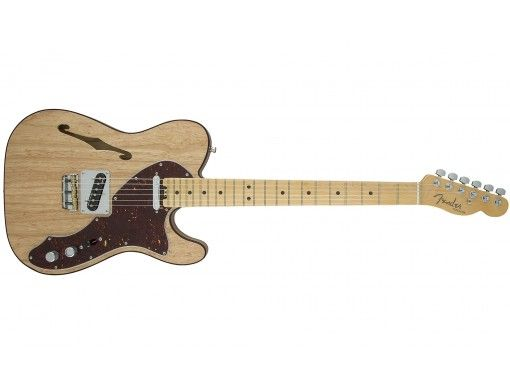Guitare Electrique Demi Caisse FENDER AMERICAN ELITE TELECASTER THINLINE MN NAT, caisse Frêne, micros Noiseless 4th gen.