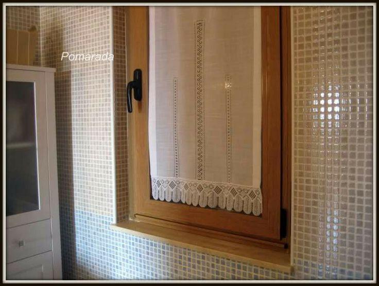 128 mejores im genes sobre cortinas de cocina en - Cortina ventana cocina ...