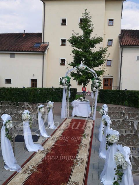 Wedding in Chateau Krakovany, Slovakia, Europe - nice place, lovely people and perfect cuisine. It was raining all around and we still had the ceremony at the courtyard in shiny and sunny atmosphere. :)