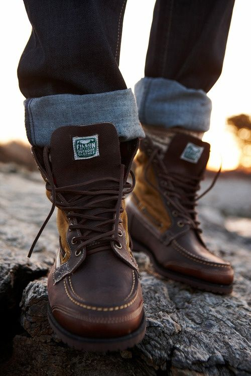 Nothing like a great pair of boots   #Filson - Click image to find more men's fashion Pinterest pins