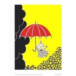 Moomin Poster Little My Tove Jansson 24 x 30 cm