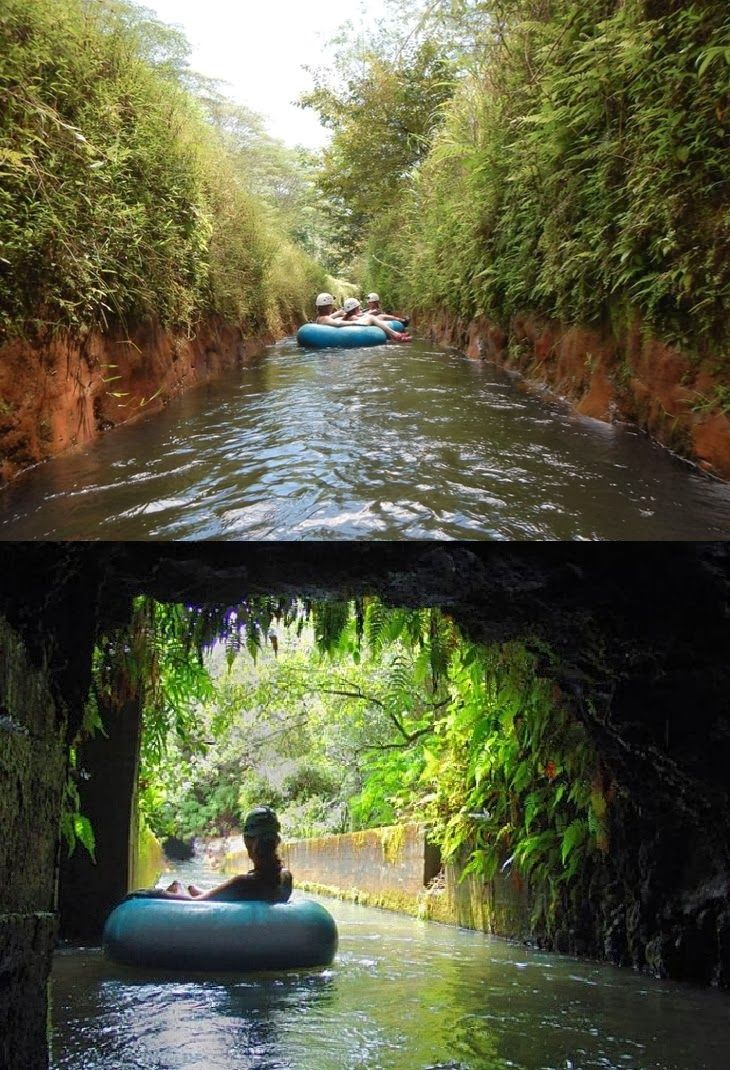 Canal tubing in Hawaii by Kauai Backcountry Adventures - Tubing through the old Lihue Plantation lands. Awesome!