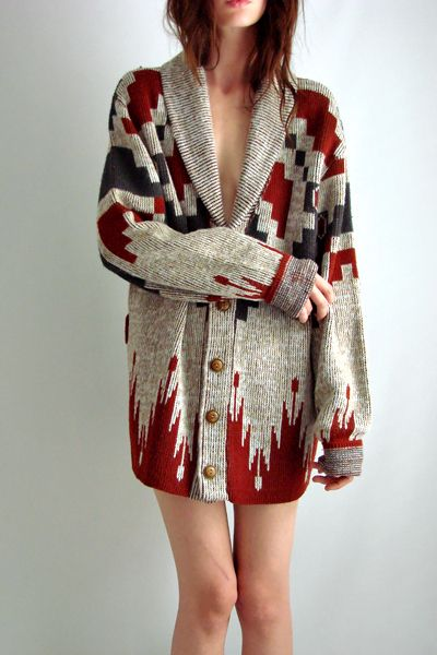 Vtg 70s SOUTHWESTERN Navajo Cardigan SWEATER Jacket SML photo thefamilyvintage's photos - Buzznet ($50-100) - Svpply