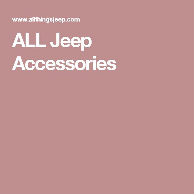 ALL Jeep Accessories