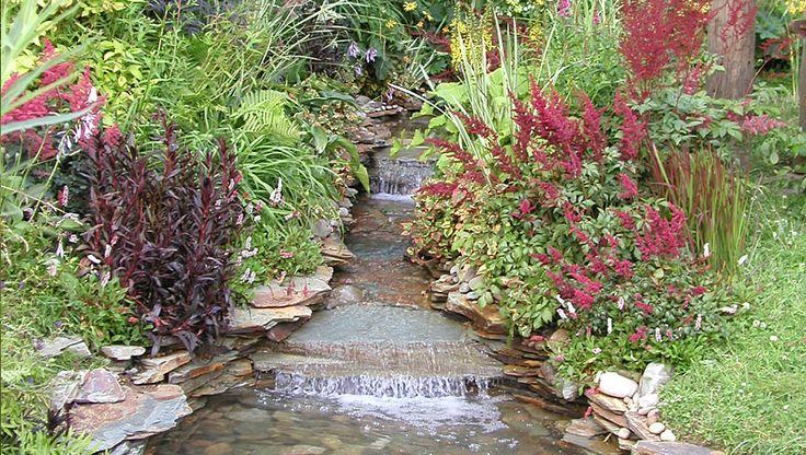 slate waterfall and stream Pond Waterfall Ideas