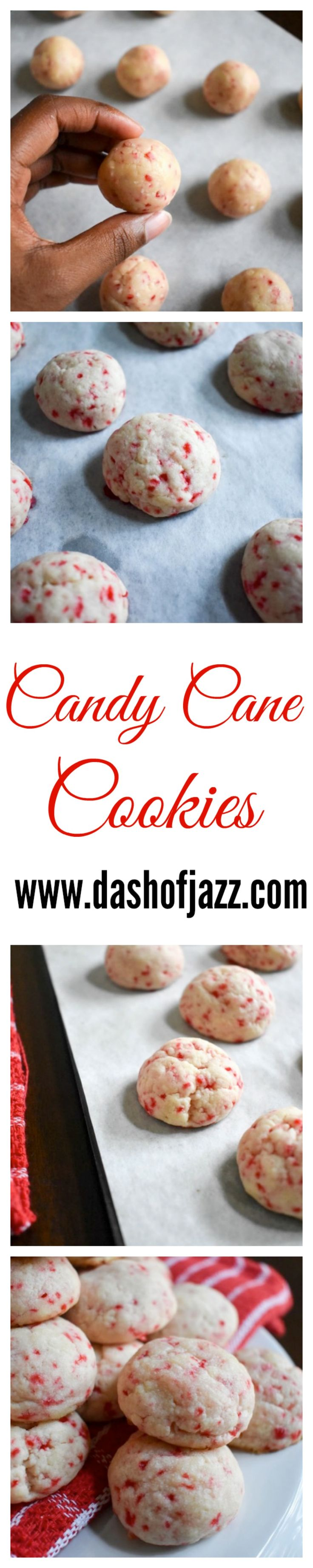 Candy Cane Cookies | Dash of Jazz