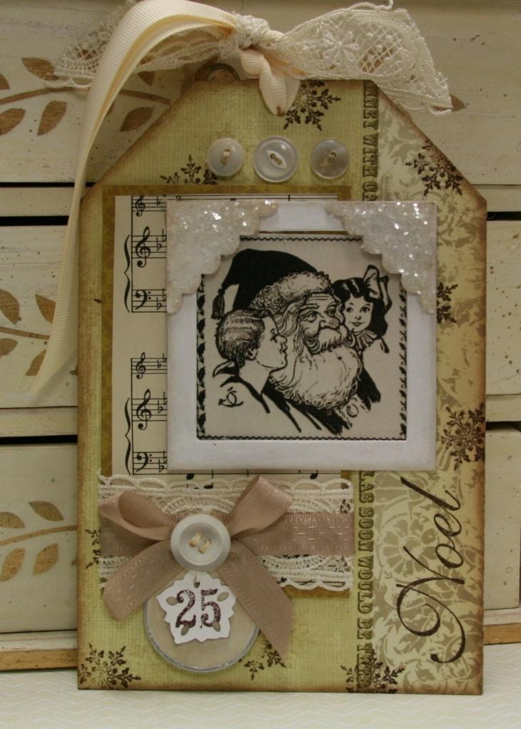 Vintage Christmas tag: Photos, These Tags, Vintage Christmas Cards, Santa Tags, Vintage Wardrobe, Scrapbook Tags, Christmas Dreams, Christmas Tags, Dreams Cars