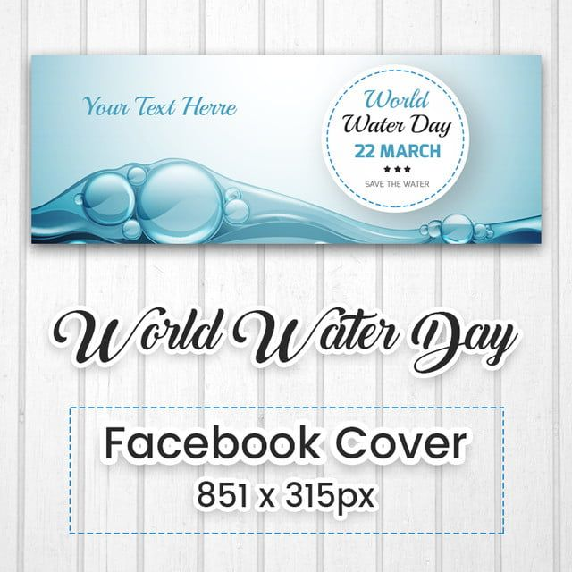 Day Cover Facebook Cover Water Day Cover