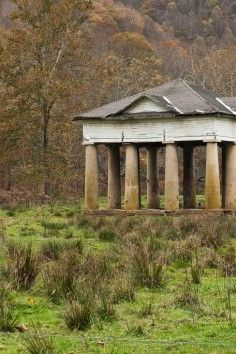 """Blue Sulphur Springs Pavillion - West Virginia, All that remains of the """"healing water"""" The Pavilion is the only surviving structure from the Blue Sulphur Springs Resort, a 19th century mineral spa, and was built to shelter the sulphur spring at the resort"""
