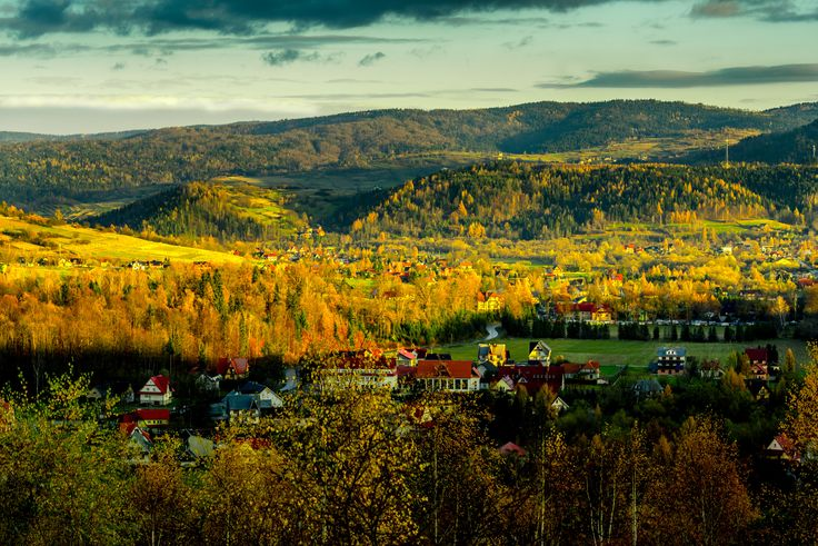 Autumn in Beskidy - We were in a small village in Beskidy mountains, Poland. We visited our friend, who lives there. We planned to go for photo shooting in the sunrise. The weather appeared fantastic for this matter. Fantastic place for taking photos.