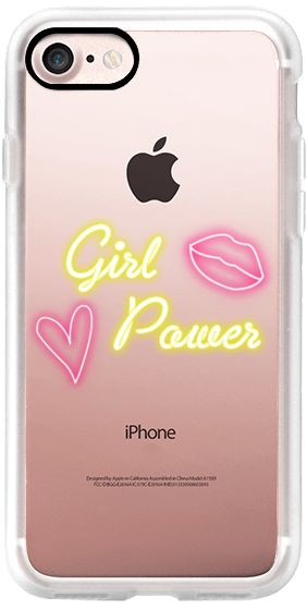 #GLOW Click through to see more Casetify iPhone 7 Classic Grip Case - Girl Power Neon #Casetify