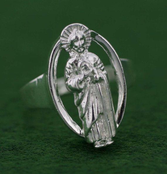 Sterling Silver Saint Jude Ring Sterling Silver by Alyssasdreams