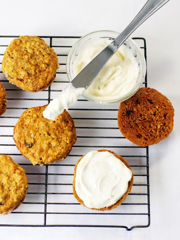 Carrot Cake Cookies with Cream Cheese Icing