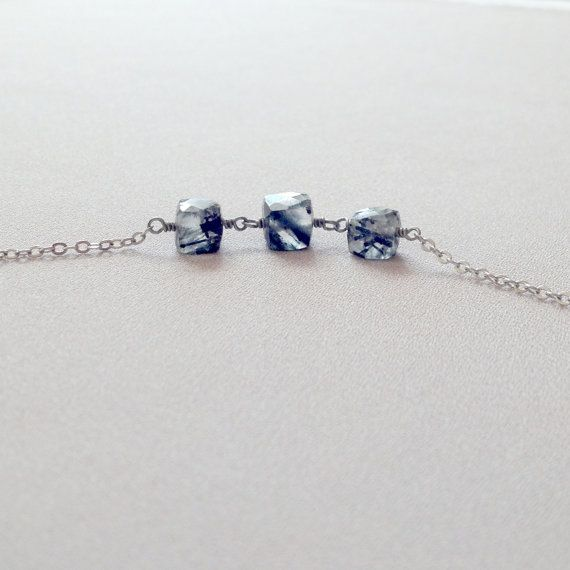 Crystal cubes necklace by LYNGjewelry on Etsy