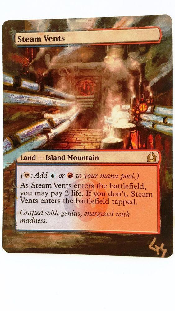 MTG Altered Art Steam Vents Hand Painted Full Art OOAK Magic Card Glendora_Alter #WizardsoftheCoast  Hot  :~)