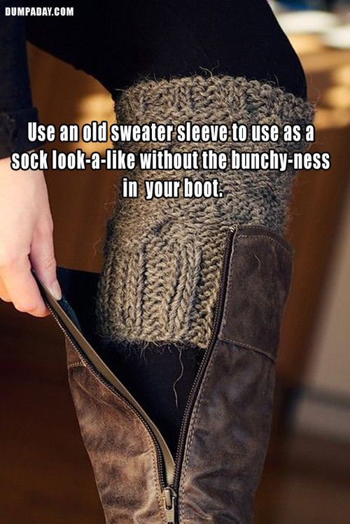 15 Fashion Life Hacks That Will Change Your Daily Routine - Also, to keep your boots sitting up straight in your closet, stick a rolled up magazine inside them. This also works with pool noodles or wine bottles.