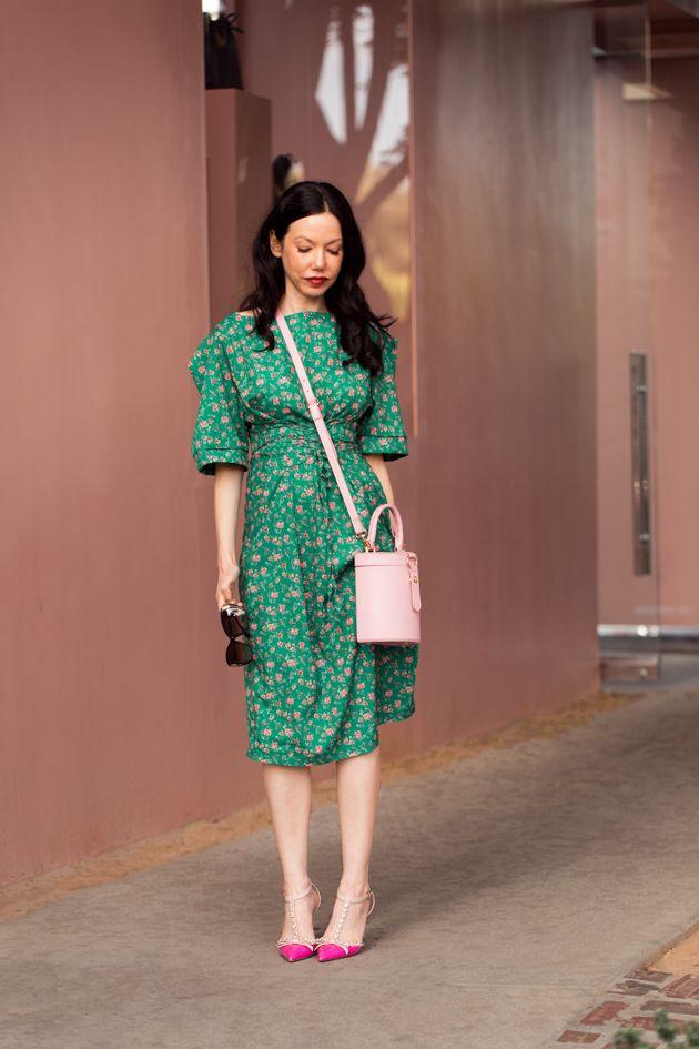 c8cbee658b5 Storets Green Floral Print Dress