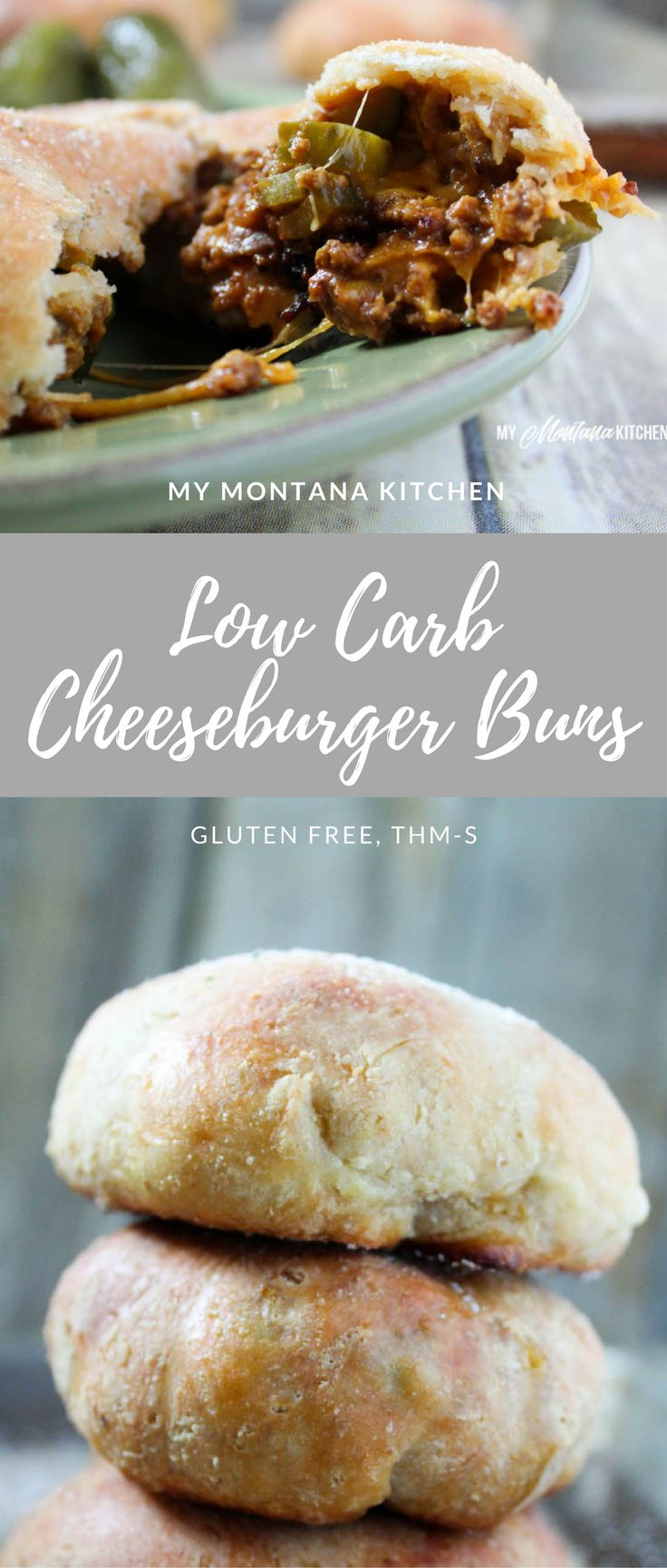 Low Carb Cheeseburger Buns (Gluten Free, THM-S) #trimhealthymama #thm #mymontanakitchen #lowcarb #GlutenFree