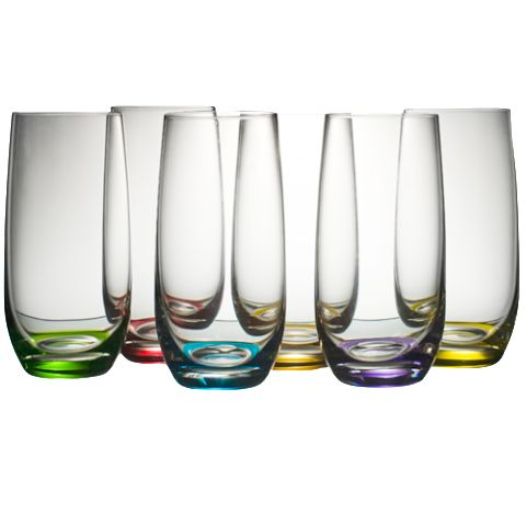 Beautiful coloured glasses to brighten up the dining table. #entertaining #gift #summer #homeentertaining