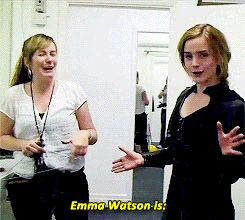 Emma Watson is Helena Bonham Carter/Bellatrix Lestrange. Ready to go.