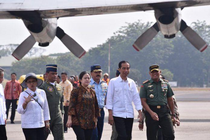 Panglima TNI Dampingi Presiden Berangkatkan Bantuan Rohingya