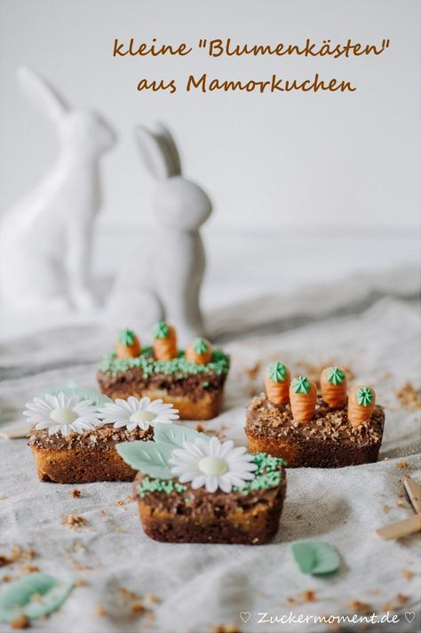 Kleine Mamorkuchen-Blumenkästen für Ostern (Reklame) + Ein Tag Beim Bauer Verlag mit Weihenstephan