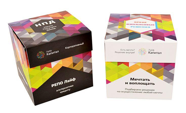 Промо упаковка для флеш-карты. Нестандартный формат - куб.