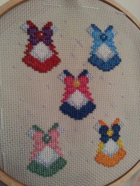 Sailor Moon Inner Senshi Sailor Suits - Cross Stitch Pattern