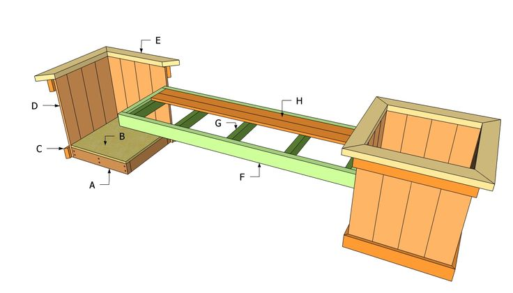 Planter Plans | Planter Bench Plans | Free Outdoor Plans - DIY Shed, Wooden Playhouse ...