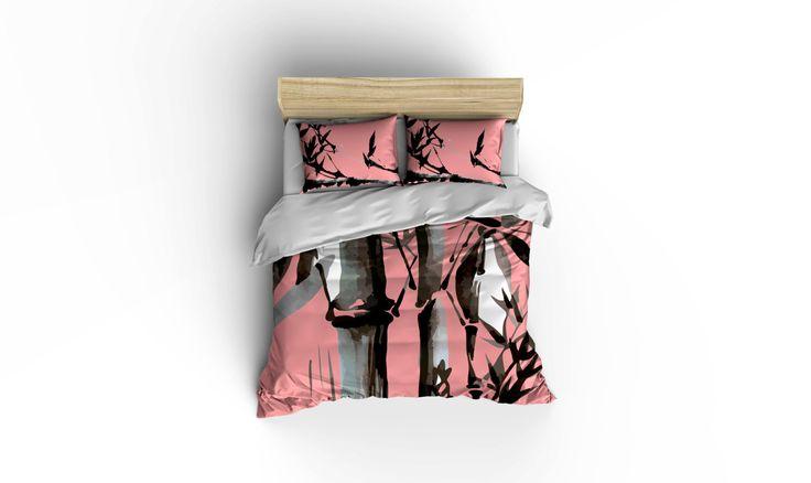 Bamboo bedding,Asian decor, Aloha bedding, island living, bed and bath, home decor,Asian bedding,bamboo duvet cover,bamboo comforter cover. by BigWaveClothingCo on Etsy