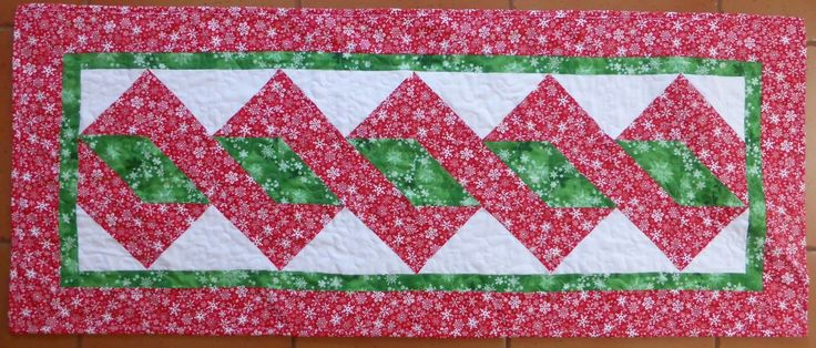 Pole Twist Table Runner I have just uploaded the tutorial for my new table runner that I have called the  Pole Twist Table Runner. I have used Christmas fabrics but of course it is a great pattern to
