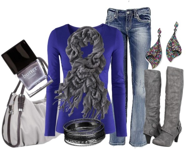 Colors Combos, Outfit Ideas, Style, Closets, Cobalt Blue, Royal Blue Clothing, Fall Fashion, Royal Blue Jeans Outfit, Boots