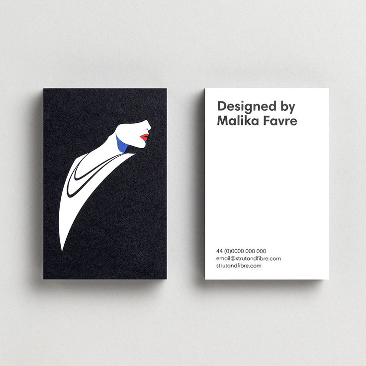 Business Card template designed by Malika Favre for Strut and Fibre's Ambassador Collection.