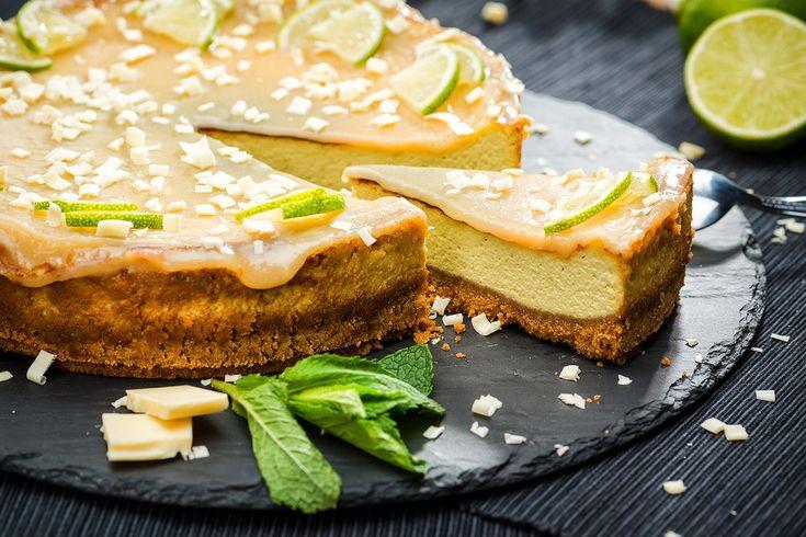 Cheesecake cu avocado si caramel cu lime