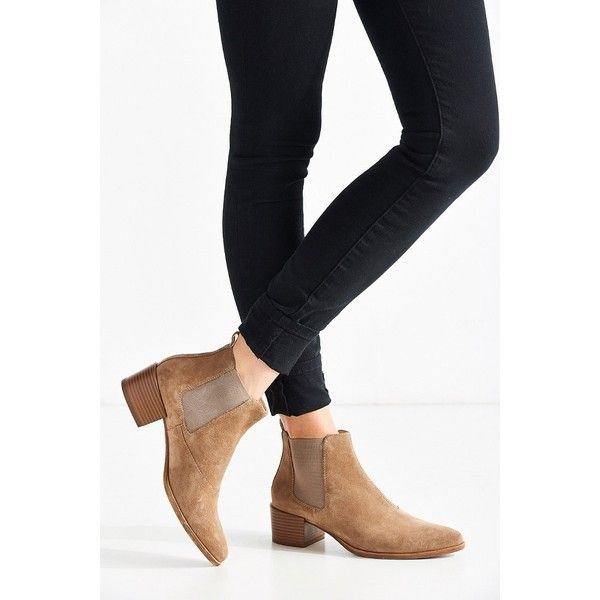 Vagabond Emira Suede Chelsea Boot (210 AUD) ❤ liked on Polyvore featuring shoes, boots, ankle booties, chelsea boots, chelsea bootie, beatle boots, suede chelsea boots and suede booties