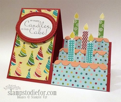 260 best birthday cards images on pinterest birthdays birthday how to make a side step card with video by patsy waggoner stamps to die for m4hsunfo