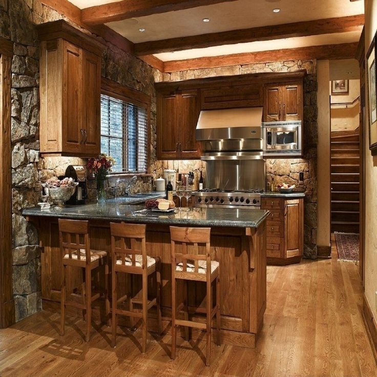1000 ideas about small rustic kitchens on pinterest small cabin interiors cabin interiors - Small kitchen design pinterest ...